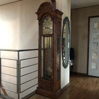 【美品】現役!アンティーク時計 ゼンマイ時計 大きなのっぽの古時計