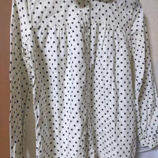 Mサイズ レディース ドット シャツ 長袖