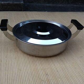 【サンキュー価格】湯豆腐鍋 ステンレス 自宅保管の未使用品 昔品...