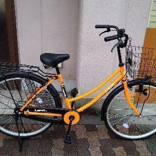 Leeds[リーズ]26吋 ファミリーサイクル シングル/オレン...