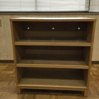 木製 収納棚 靴箱 収納ラック 本棚 H83 W80 D40