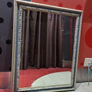 【ネット決済・配送可】アンティークミラー・鏡(美容室で利用)