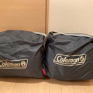 【ネット決済・配送可】コールマン 寝袋 数回使用 非常用にも使えます