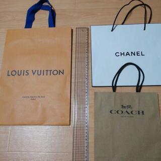 ショッパー 紙袋 CHANEL ルイヴィトン COACH 3枚...