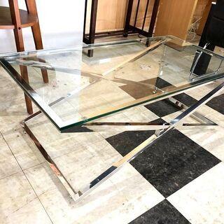 札幌近郊 送料無料 Tempered Glass センターテーブ...