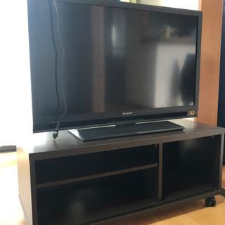 SHARP 32インチテレビ、テレビ台セット