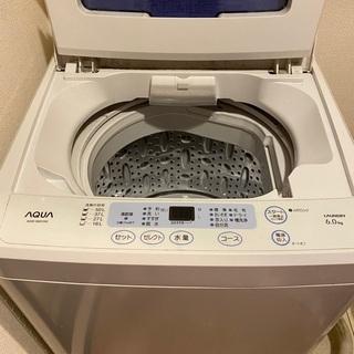 あげます AQUA全自動電気洗濯機2012年製 6.0kg