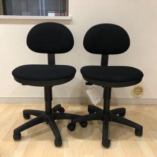 【ネット決済】オフィスチェア 黒 2脚セット