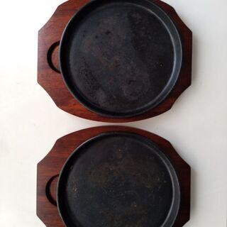 鉄板プレート皿 2つセット