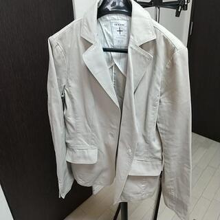 【中古品】ミッシェルクラン 春夏ジャケット サイズ40 ベージュ