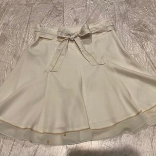 リボン付きスカート 白 スカート