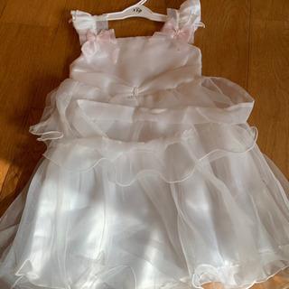 新品子供用ドレス110 白フリル