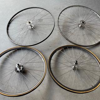 終了:自転車のホイール4本(中古品)