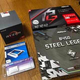 【売却決定】自作ゲーミングPCセット Ryzen7 2700X,...