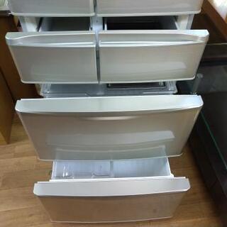 ⭐ジモティー限定特別価格⭐J069★6か月保証★6ドア冷蔵庫★SHARP  SJ-XF44T-N  2011年製⭐動作確認済⭐クリーニング済   - 家電
