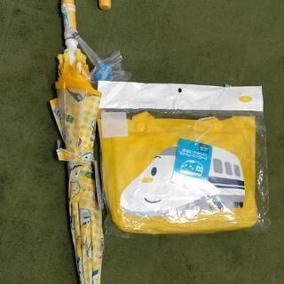 【未使用】90サイズ、傘とレインコート