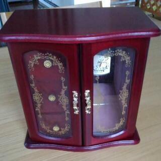 オルゴール付 木製 宝石箱 昭和レトロ ジュエリーボックス