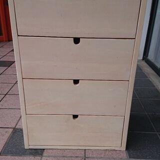 木製4段衣類収納家具 中古品
