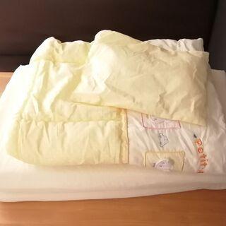 ベビーぶとん4点セット(敷布団、肌布団、シーツ、枕) お昼寝布団...