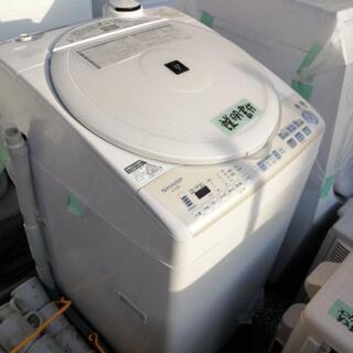 シャープ 8kg 洗濯機 人気の穴なし槽 ハンガー付