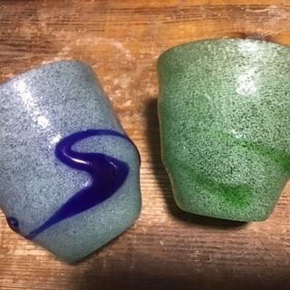 値下げ! 稲嶺盛吉さん 琉球ガラス作家 コップ2個セット