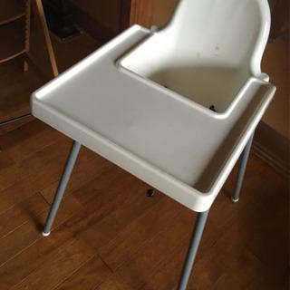 IKEAハイチェアテーブル付き