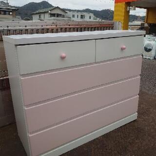 ピンク タンス 衣類収納