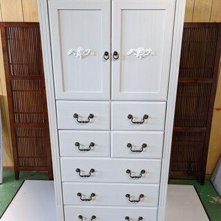 タンス ロココ調 ホワイト/白 アンティーク 衣装箪笥 収納家具...