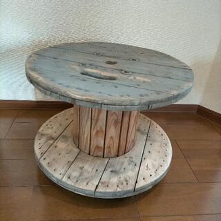 電線ドラム  キャスター付きテーブル