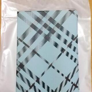 手帳型 タブレットケース (新品未使用)(チェック柄)
