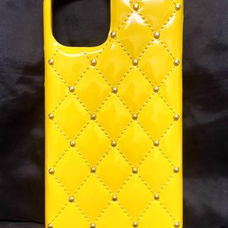 新品 iPhone11Pro ケース エナメル イエロー