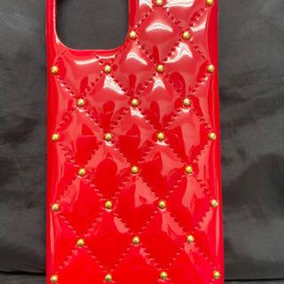 新品 iPhone11Pro ケース エナメル レッド