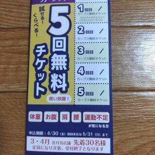 カーブス 5回無料チケット
