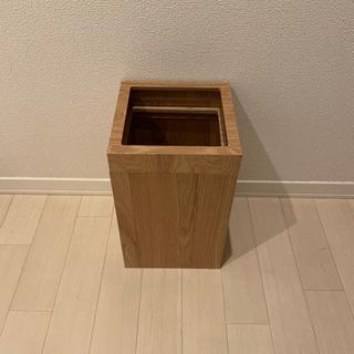 木製 ゴミ箱 正方形 11L