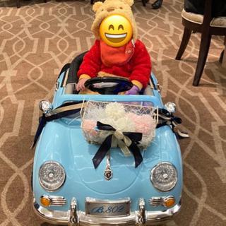 子供乗車用ラジコンカー ポルシェ青