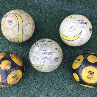 サッカーボール5号球5個