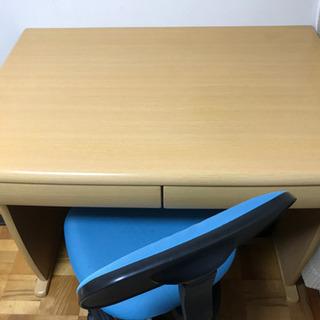 【受付終了】学習机と椅子 今週末まで