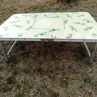 キャンプテーブル(キャプテンスタッグ)120×80 ツーウェイテーブル