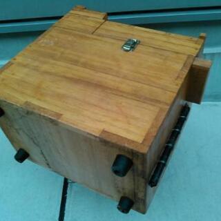 釣具収納箱 木製 - 家具