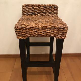 バリ風椅子  バナナリーフ素材
