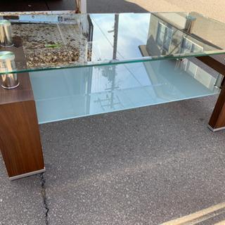 ニトリ 強化ガラステーブル センターテーブル ローテーブル