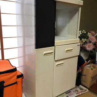 食器棚 キッチンボード レンジ台 炊飯器入る食器棚
