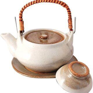【未使用】マルヨシ陶器 土瓶むしセット 粉引