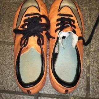 NIKE スパイク 21cm オレンジ色