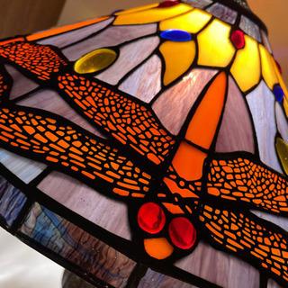 ランプシェード 蜻蛉 ティファニーモチーフ ステンドグラス