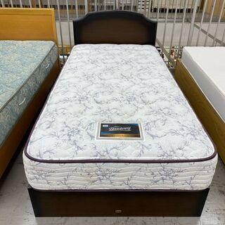 【愛品館 江戸川店】シモンズ シングルベッド 引出し収納付…