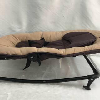 西松屋 ベビーバウンサー 角度調整可能 赤ちゃん ベッド ベージ...