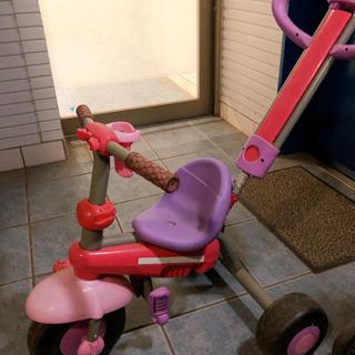 女の子用三輪車