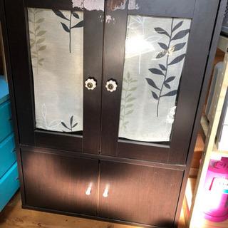 【中古】キッチンラック 食器棚