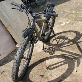 26インチ自転車、極太タイヤ
